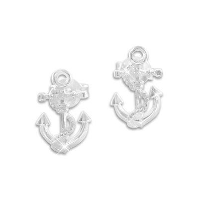 Damen Ohrringe Anker mit Seil 925 Silber