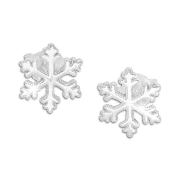 Schneeflocken Ohrringe Ohrstecker 925 Silber