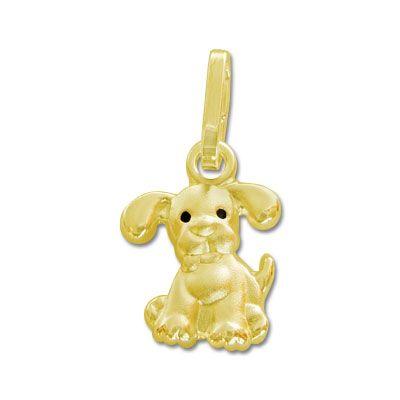 Hunde Anhänger 333 Gold