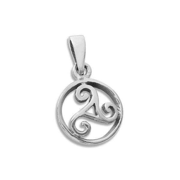 Triskel Kreis Anhänger 925 Silber keltisches Symbol