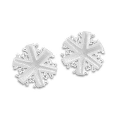 Ohrstecker Schneeflocke 925 Silber