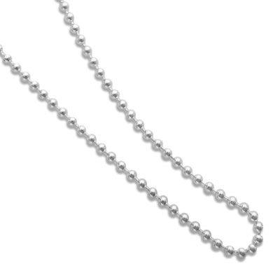 Kugelkette 925 Silber 1,2 mm 42 cm