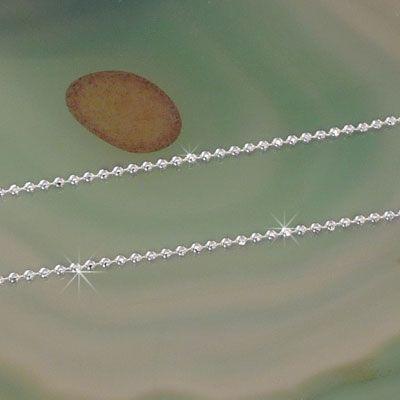 Kugelkette 925 Silber 1,1 mm 45 cm