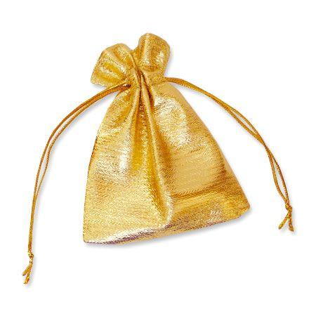 Schmuckbeutel gold