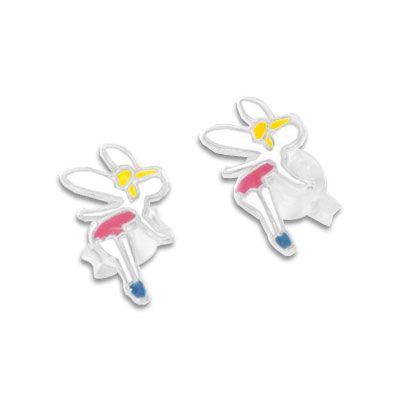 Feen Ohrstecker 925 Silber Ohrringe Fee für Mädchen