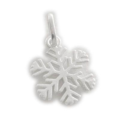 Anhänger Schneeflocke 925 Silber