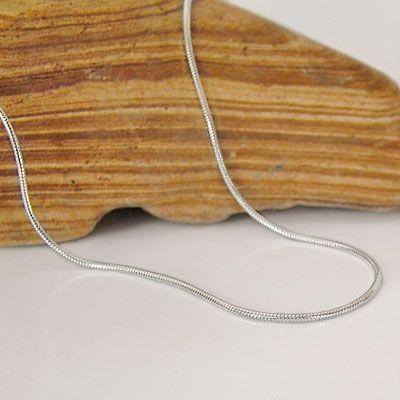 Schlangenkette 925 Silber 0,9 mm 40 cm Silber Schmuck