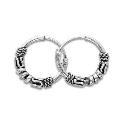 Gothicschmuck Creolen 925 Silber 12 mm Herren Ohrringe