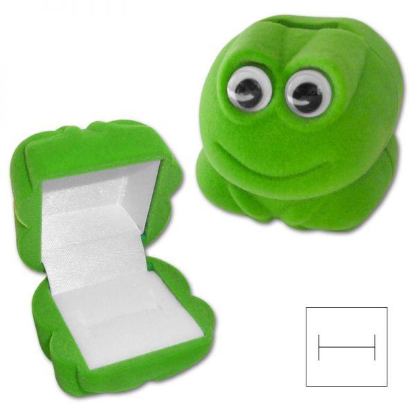Schmucketui Frosch für Kinderringe und Ohrstecker