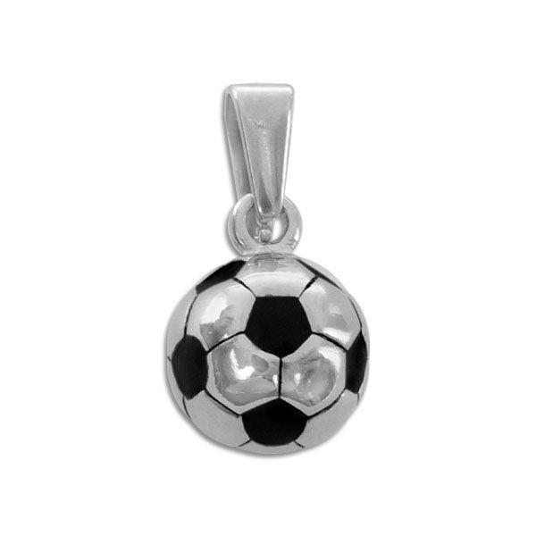Edelstahl Anhänger runder Fußball 11 mm