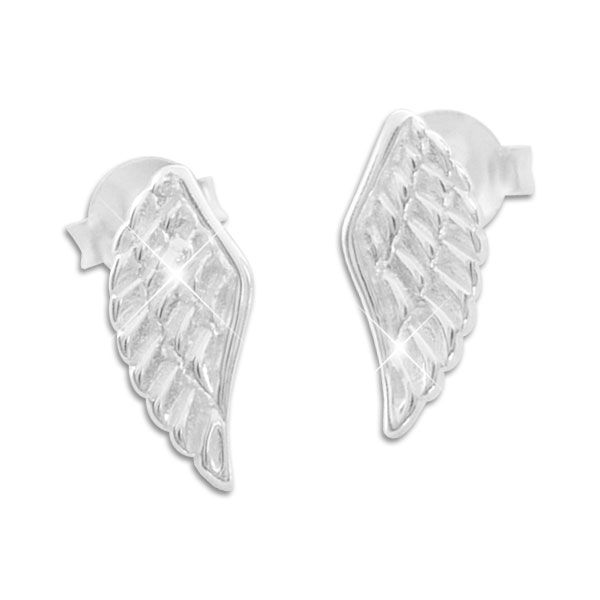 Engelsflügel Ohrringe Ohrstecker 925 Silber