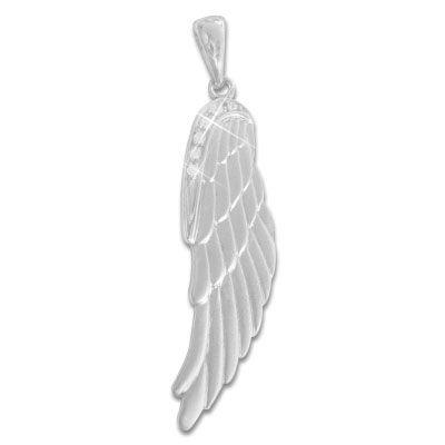 Anhänger Engelsflügel mit Zirkonia 925 Silber