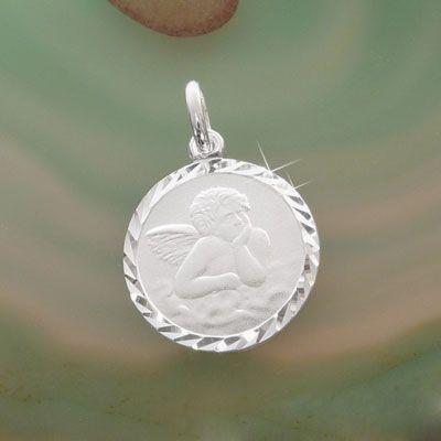 Schutzengel Anhänger 925 Silber Taufschmuck