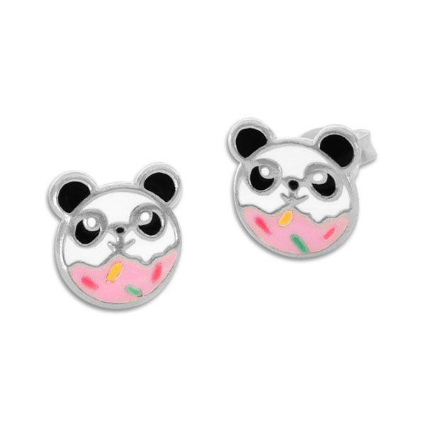 Kinder Ohrringe Streusel Panda Ohrstecker 925 Silber