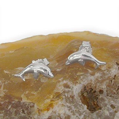 Delphin Ohrstecker 925 Silber Ohrringe für für Kinder und Damen