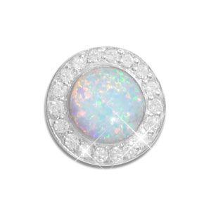 Anhänger mit Opal und Zirkonia 925 Silber