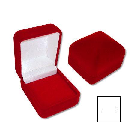 Schmuckkästchen für Ring Samt rot