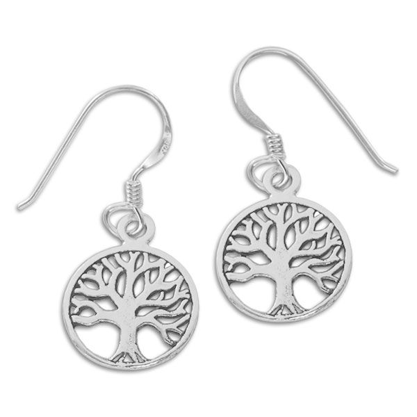 Ohrringe Lebensbaum mit Ohrhaken 925 Silber
