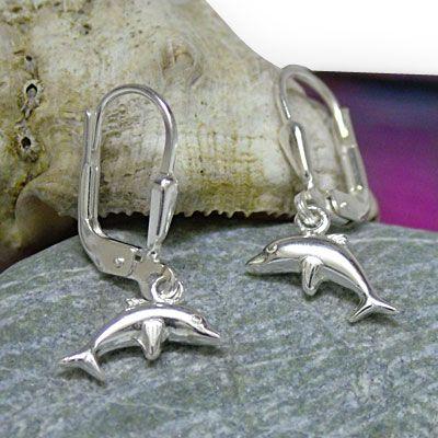 Delphin Ohrhänger 925 Silber Ohrringe für Kinder Damen mit Delfinen