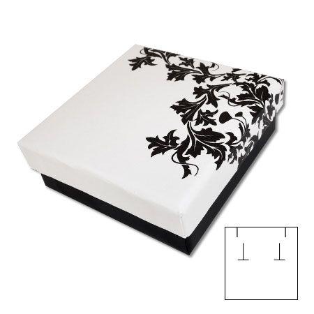 Design Schmuckschachtel schwarz-weiß 60 x 60 x 25 mm