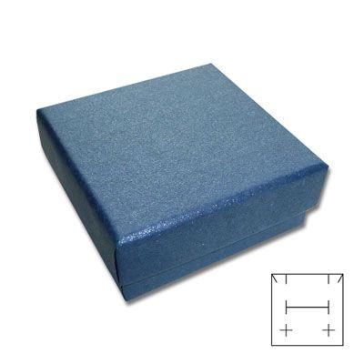 Schmuck-Verpackung universal blau 50 x 50 x 25 mm