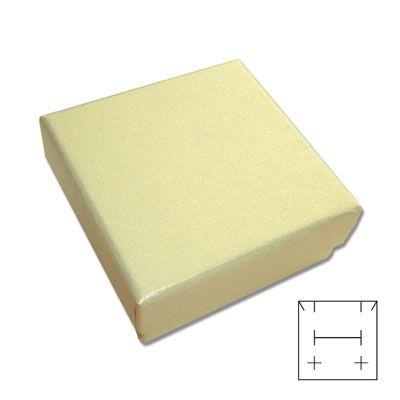 Schmuck-Verpackung universal goldgelb 50 x 50 x 25 mm