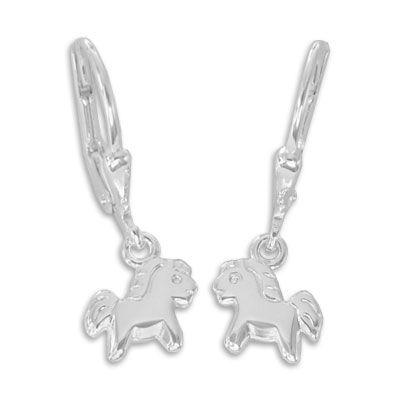 Pony Ohrringe Ohrhänger 925 Silber