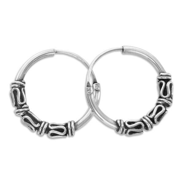 16 mm Gothicschmuck Creolen 925 Silber