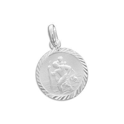 Christophorus Silberanhänger 13 mm 925 Silber