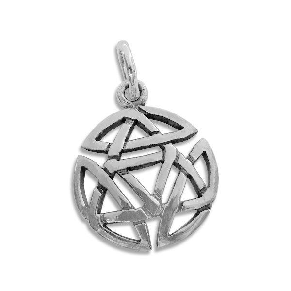 Keltischer Knoten Anhänger rund 925 Silber