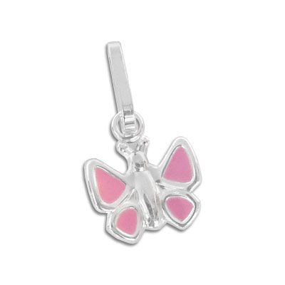 Mädchen Anhänger Schmetterling rosa 925 Silber