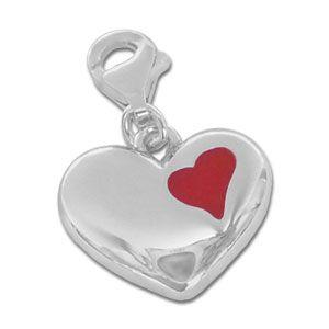 Charm Anhänger großes Herz 925 Silber