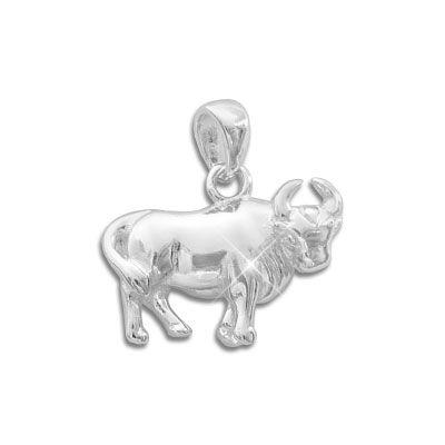 Sternzeichen Anhänger Stier 925 Silber