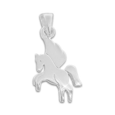Kinderanhänger Pferd matt-glänzend 925 Silber