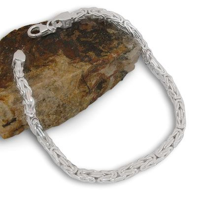 Königsketten Armband 925 Silber 3 mm 19 cm