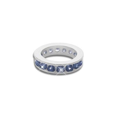 Taufring für Jungen mit dunkelblauen Zirkonia 925 Silber