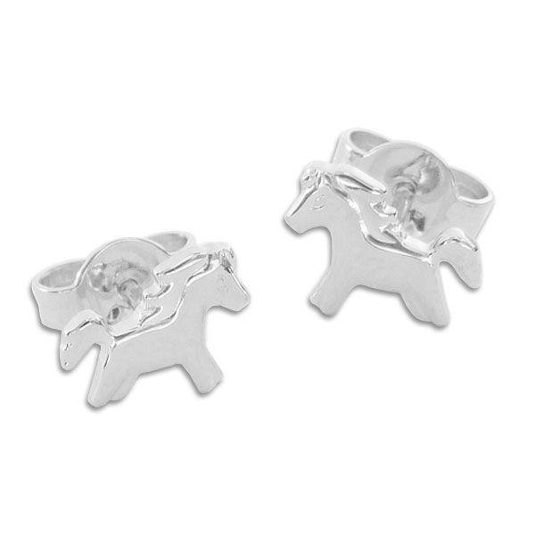 Kinder Ohrstecker Ponys Pferde 925 Silber