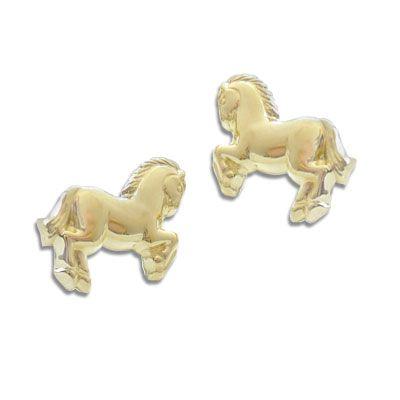 Ohrstecker Pferd 333 Gold Kinderohrringe Goldschmuck Kinder