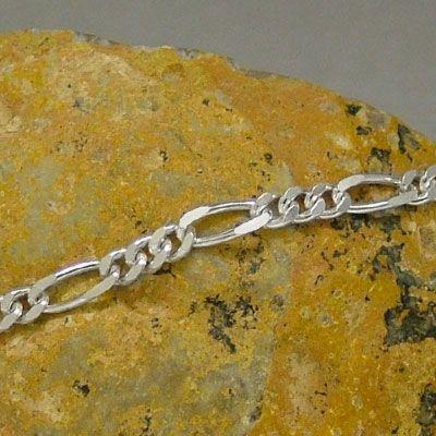 Figaroarmband Silber 19 cm