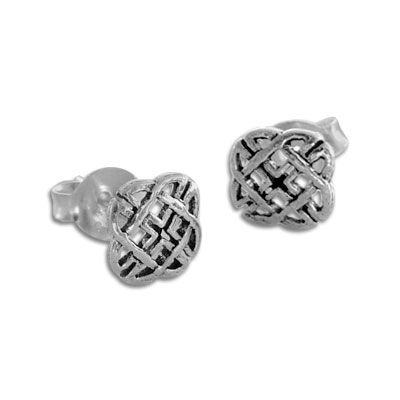 Celtic Ohrstecker 925 Silber Ohrringe mit keltischem Flechtwerk