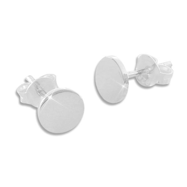Runde Ohrstecker 6 mm glänzend 925 Silber Ohrringe für Damen und Herren