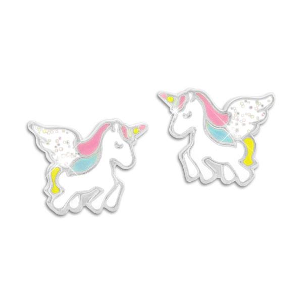 Einhorn Ohrstecker Ohrringe Cartoons Tier glitzern Ohrringe Frauen Schmuck D*