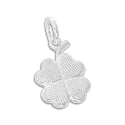 Anhänger mit Kleeblatt 925 Silber Silberanhänger Glücksbringer