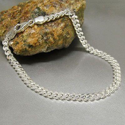 Panzerarmband 925 Silber 4 mm 19 cm