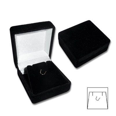 Samtetui für Ohrringe und Anhänger schwarz