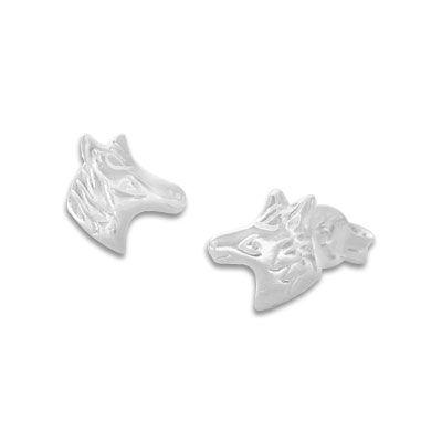 Kinderschmuck Ohrstecker 925 Silber Kinder Pferde Ohrringe