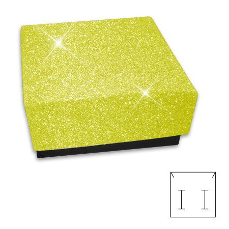Schmuckbox Glitzer gold 55 x 55 x 25 mm