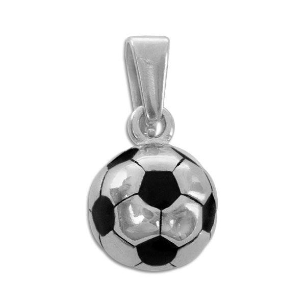 Edelstahl Anhänger runder Fußball