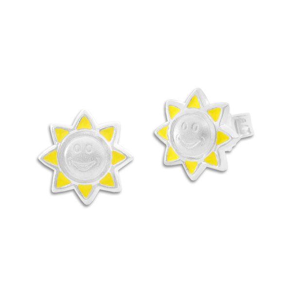 Kinder Ohrstecker Sonne Ohrringe 925 Silber