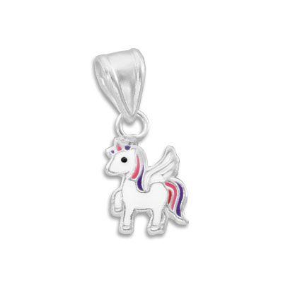 Alicorn Anhänger geflügeltes Einhorn 925 Silber